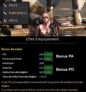 Black Desert bonus PA et PD