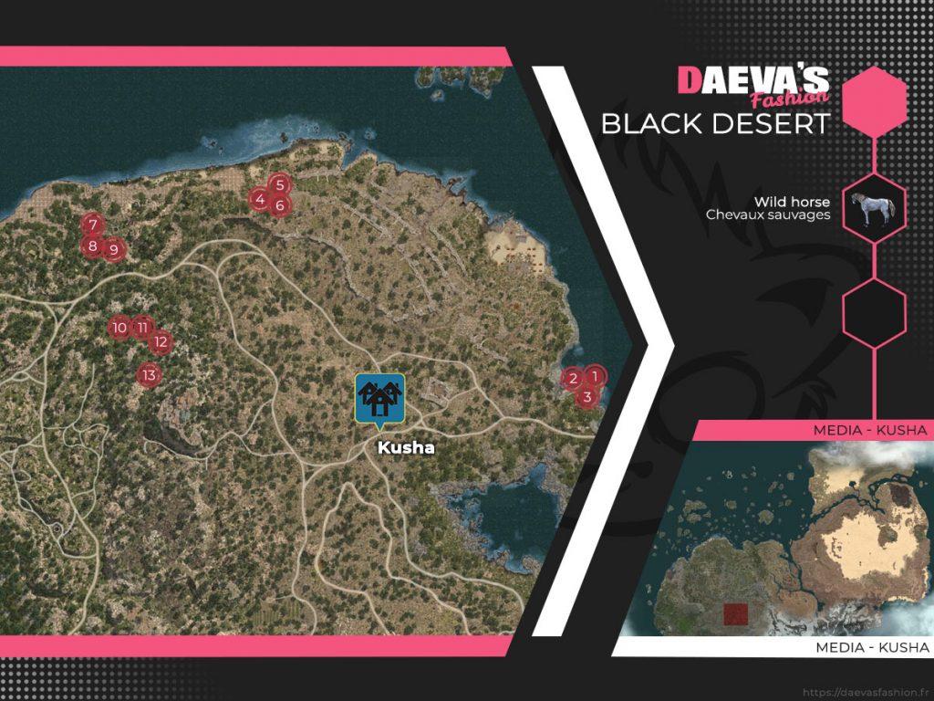 black desert chevaux sauvage