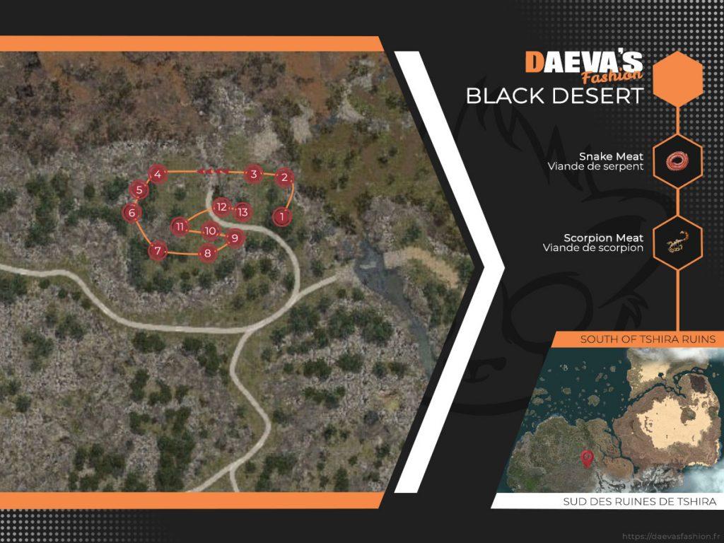 Viande de serpent et scorpion - Black Desert